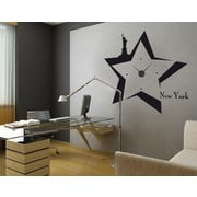 Style and Apply New York Wall Clock II Wall Decal; Black