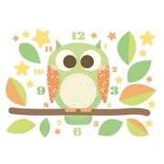 Style and Apply Owl Wall Clock Wall Decal; Gold