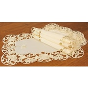Xia Home Fashions Daisy Lace Embroidered Cutwork Spring Placemat (Set of 4)