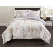 Casa Magnolia 5 Piece Comforter Set; Queen