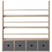 Bloomingville Wood Plate Rack with 4 Drawers