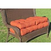 Blazing Needles Outdoor Wicker Settee Cushions (Set of 3); Mocha