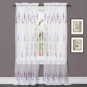 Lush Decor Jacey Window Curtain Panels (Set of 2); Purple