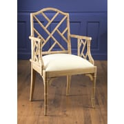 AA Importing Chinese Chippendale Arm Chair; Pickled