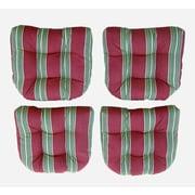 Blazing Needles Outdoor 20'' Wicker Chair Cushions Set; Lyndhurst Raven