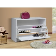 4D Concepts Storage and Organization Deluxe Single Shoe Cabinet; White
