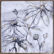 Hobbitholeco. ''Elegant Flowers''  by Anastasia C Graphic Art on Canvas