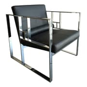 Lievo Mona Arm Chair; Polished Stainless Steel