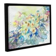 ArtWall 'Primroses 2013' by Liz Chaderton Framed Painting Print; 18'' H x 24'' W x 2'' D