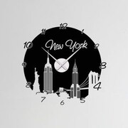 Style and Apply New York Wall Clock Wall Decal; Gold