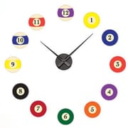 Style and Apply Billiard Balls Wall Clock Wall Decal