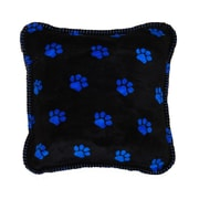 Denali Paw Prints Throw Pillow; Rich Royal