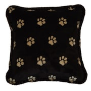 Denali Paw Prints Throw Pillow; Stone