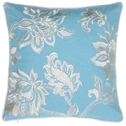 14 Karat Home Inc. Solid French Throw Pillow; Harbor