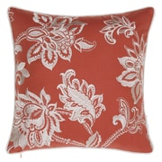 14 Karat Home Inc. Solid French Throw Pillow; Spice