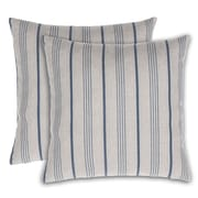 14 Karat Home Inc. Stripe Throw Pillow (Set of 2); Blue