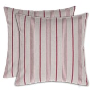 14 Karat Home Inc. Stripe Throw Pillow (Set of 2); Red