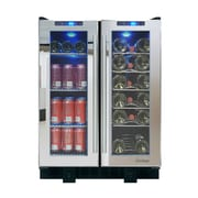 Vinotemp Mirrored 36 Bottle Single Zone Built-In Wine Refrigerator