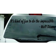 Design With Vinyl It's Kind of Fun to Do The Impossible - Walt Disney Wall Decal