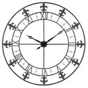 Aspire 39'' Adelie Fleur De Lis Wall Clock