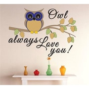 Design With Vinyl Owl Always Love You Text Lettering Wall Decal