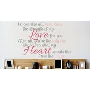 Design With Vinyl No One Else Will Ever Know Wall Decal