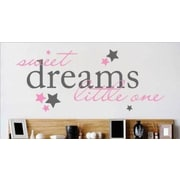 Design With Vinyl Sweet Dreams Little One Lettering Text Wall Decal