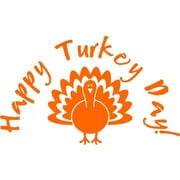 Design With Vinyl Turkey - Thanksgiving Holiday Wall Decal