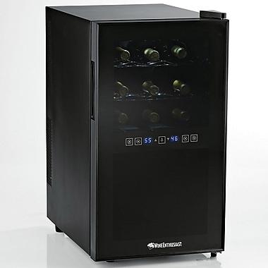 Wine Enthusiast Companies Silent 18 Bottle Dual Zone Freestanding Wine Refrigerator