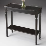 Butler Masterpiece Casual Console Table; Distressed Plum Black