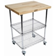 John Boos Metropolitan Kitchen Cart with Wood Top