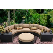 TK Classics Barbados 6 Piece Seating Group with Cushion; Wheat