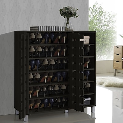 Wholesale Interiors Baxton Studio Shirley 18-Pair Shoe Storage Cabinet WYF078278177571