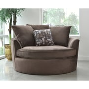 Sofas to Go Cuddler Barrel Chair; Brown