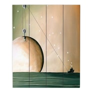 DiaNocheDesigns A Solar System by Cindy Thornton Painting Print Plaque; 20'' H x 16'' W x 1'' D
