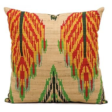 Kathy Ireland Home Gallery Escapade Brown/Red/Yellow Throw Pillow