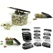 Imperial Home 30-Piece Plastic Food Container Set; Black