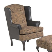 Serta Upholstery Wing Back Chair; San Marino Chocolate / Silas Raisin