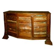 MOTI Furniture Bar Cabinet w/ Wine Storage