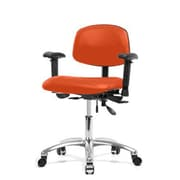 Perch Chairs and Stools 12'' Multi-Task Office Chair with Adjustable Armrests; Orange Kist