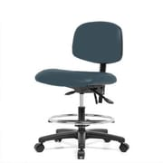 Perch Chairs and Stools 12'' Lab Chair with Adjustable Height; Colonial Blue