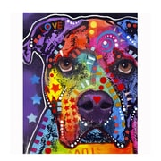 Picture it on Canvas 'American Bulldog Colorful Animals' Graphic Art