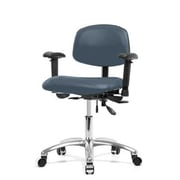 Perch Chairs & Stools 12'' Multi-Task Office Chair with Adjustable Armrests; Newport
