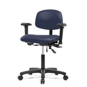 Perch Chairs & Stools 12'' Multi-Task Office Chair with Adjustable Armrests; Imperial Blue