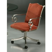 Impacterra Athena Caster Chair in Brushed Steel