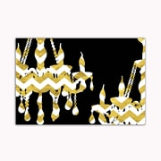 Picture it on Canvas 'Chandelier' Painting Print on Wrapped Canvas in Chevron Gold