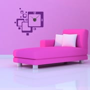 Style and Apply Retro Wall Clock Wall Decal; Violet