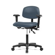 Perch Chairs and Stools 12'' Multi-Task Office Chair with Adjustable Armrests; Newport