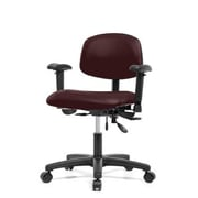 Perch Chairs and Stools 12'' Multi-Task Office Chair with Adjustable Armrests; Burgundy