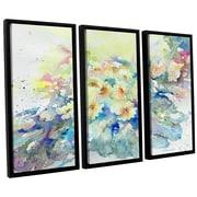 ArtWall 'Primroses 2013' by Liz Chaderton 3 Piece Framed Painting Print Set; 24'' H x 36'' W x 2'' D